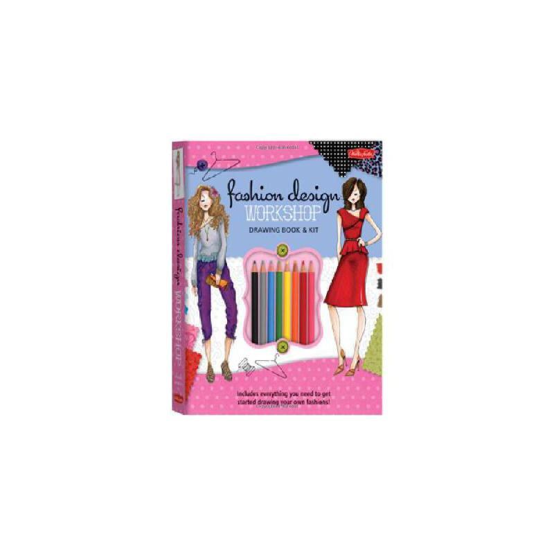 【预订】Fashion Design Workshop Drawing Book & Kit: Includes Everything You Need to Get Started Drawing  美国库房发货,通常付款后3-5周到货!
