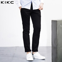 kikc青少年休闲裤男新款潮男韩版休闲纯色修身小脚裤个性长裤子