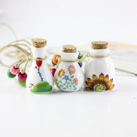 原创手工饰品 景德镇陶瓷精油瓶 项链 吊坠许愿瓶漂流瓶长款挂饰