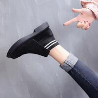 2018秋冬季新款雪地靴女马丁短靴短筒平底棉鞋学生女鞋女靴子棉靴