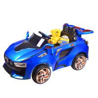 【当当自营】儿童电动汽车童车四轮双驱 宝宝玩具汽车遥控车可坐双电双驱电动车 8821蓝色