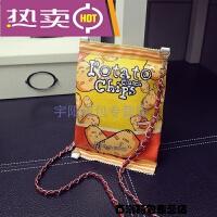 泰国原宿卡通包零食薯片女包学生包手拿斜挎包零钱信封包