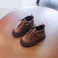 婴儿马丁靴宝宝靴子1-3岁鞋女冬季二棉短靴男童棉靴婴儿软底学步鞋子马丁靴 TBP
