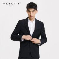 【1件2.5折到手价:249.8】MECITY男装夏季新款时尚弹力商务西装外套男士休闲西服男