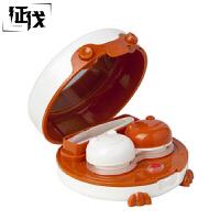 征伐 隐形眼镜盒 家用创意自动清洗器卡通伴侣可爱美瞳盒子带镊子伴侣双联盒 83*80*35mm