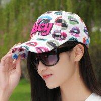 韩版潮夏季男女士新款嘴唇juicy字母鸭舌帽休闲棒球帽女士帽子