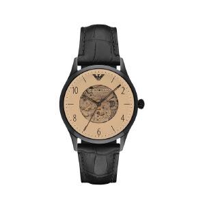Armani阿玛尼时尚男士皮带手表 复古镂空机械表男AAR1923