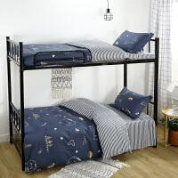 ???纯棉宿舍单人床单三件套学生被套上下铺被子床垫枕头3件套全棉 男