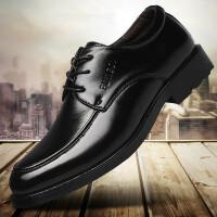 【冬季清仓】秋季新款男士商务正装休闲皮鞋英伦黑色系带男鞋子潮单鞋WGL