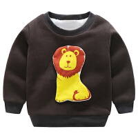 秋冬�和�加�q�l衣男童�n版潮加厚保暖����打底衫童�b上衣