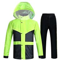 2018年电动车雨衣雨裤套装摩托车自行车男女式单人骑行水分体雨衣