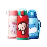宝宝水杯316不锈钢儿童保温杯带吸管两用水壶小学生幼儿园