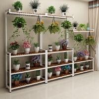 铁艺多层花架客厅室内实木花架落地式阳台绿萝吊兰花架多肉植物架