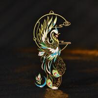 凤凰金属书签创意艺术复古中国风古典礼品出国送老外小清新古风
