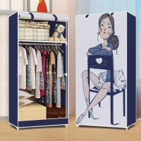 简易衣柜牛津布小号衣橱60-70cm宽单人组装布艺便携式宿舍挂衣柜