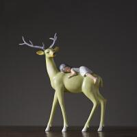 家居装饰品儿童房摆件设计师推荐卡通雕塑摆设样板间软装配饰