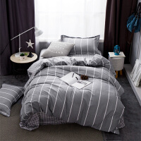 学生宿舍纯棉三件套床品套件1.2m床上用品被套床单