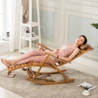 躺椅折叠逍遥休闲午睡椅沙滩阳台靠背老人家用休闲竹摇椅