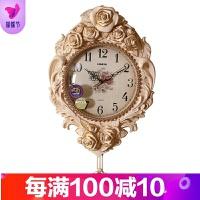 欧式挂钟客厅卧室钟表个性创意时尚豪华装饰挂表家用静音艺术时钟品质保证 20英寸