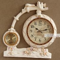 欧式创意挂钟客厅个性时尚表家用静音艺术时钟自行车钟表 20英寸