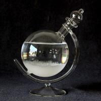 创意新款天气预报瓶风暴瓶情人节礼物玻璃工艺品家居摆件礼品 地球仪款白色+礼品袋