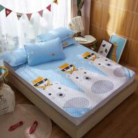 可水洗折叠冰丝凉席床单三件套1.5m双人席子夏天丝空调软席1.8m床