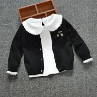 春秋小女童白色翻领打底衫百搭上衣女宝宝衬衣全棉娃娃领婴儿长袖