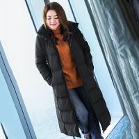胖mm大码女装2017新款冬装胖妹妹加长羽绒服M1740975