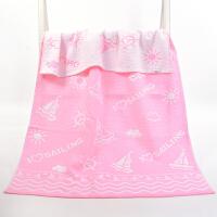 大号纱布浴巾180x90cm毛巾被男女柔软吸水加厚 粉红色 帆船浴巾 90x180cm