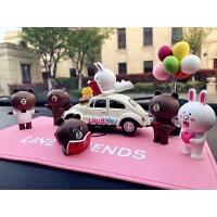 新汽车摆件创意可爱卡通兔子熊摇头公仔车内车载装饰品车饰小玩偶