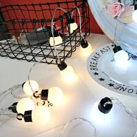 复古灯泡造型LED串灯派对房间装饰灯圆球灯暖光灯拍照道具灯串灯