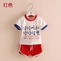 儿童休闲套装 2018夏装韩版男童童装 宝宝短袖短裤两件套tz-2496