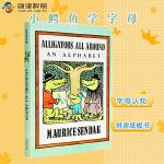 Alligators All Around Board Book 小鳄鱼学字母 拼读纸板书 英文字母认知进口正版原版绘