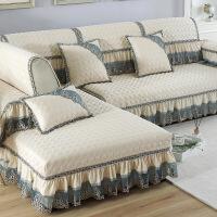 纯色沙发垫布艺四季欧式防滑坐垫皮沙发套全包套罩巾盖代 梦娜丝 米白