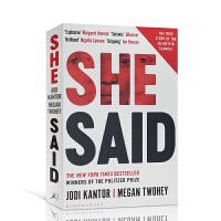 【全店300减100】英文原版 She Said 她说 纽约时报畅销书籍 青少年课外英语阅读读物 进口正版
