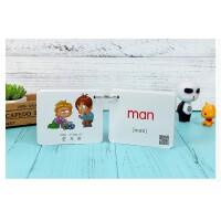 幼儿童英语单词卡英文教学大卡片启蒙早教识字闪卡学习中英文卡