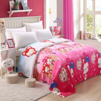 夏季可爱空调毯单人薄毯子办公室午睡毯珊瑚绒双人毛毯夏天夏凉毯