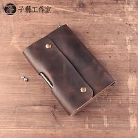 [子艺]手工皮具笔记本牛皮旅行者复古记事本A6活页日记本原创礼物