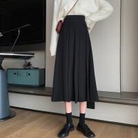 高腰垂��感A字裙中�L款百搭�r尚遮胯�@瘦半身裙女2020新款�n版潮