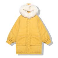 香蕉芭那那 秋冬新款加厚棉衣bf中长款面包服女外套潮