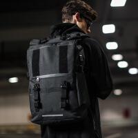 男士卷盖双肩背包户外大容量旅行包旅游登山包时尚潮流中学生书包SN5492