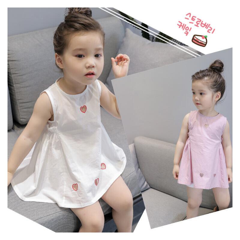 韩版夏季新品女童韩版时尚休闲背心裙爱心连衣裙2-7岁B8-A50 发货周期:一般在付款后2-90天左右发货,具体发货时间请以与客服协商的时间为准