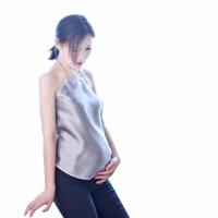 防辐射服孕妇装银纤维肚兜护胎宝内穿四季春夏上班穿衣服上衣 银灰色 均码