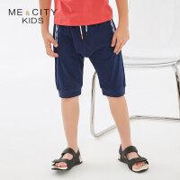 【1件2.5折到手价:33.8】米喜迪mecity童装19夏装新款男童民俗感袋口罗纹针织裤