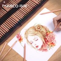 马可6100油性彩铅24/36/48色美术彩色铅笔马克笔绘画素描套装手绘72色