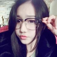 光度新款复古金属米钉眼镜框 潮人半框眼镜架 2190