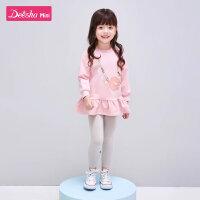 笛莎童装女童套装2020春季新款儿童时髦洋气套装女孩休闲运动套装