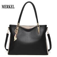 莫尔克(MERKEL)新款简约斜挎手提包女士包包时尚新款大容量韩版女包大包单肩包