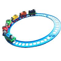 托马斯儿童玩具电动合金小火车头磁性回力小汽车轨道车套装 抖音