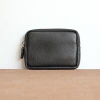 20180627085449223男士时尚零钱包拉链小钱包牛皮手拿包长钱包硬币简洁手包